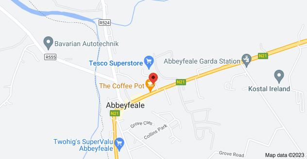 Map of Abbeyfeale Fire Station, Colbert Terrace, Abbeyfeale West, Abbeyfeale, Co. Limerick