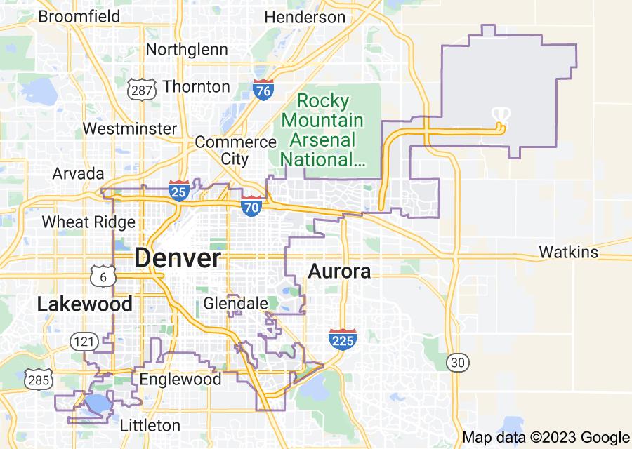 Location of Denver