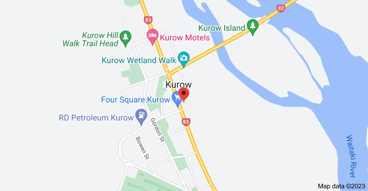 Map of 16 Bledisloe Street, Kurow 9435