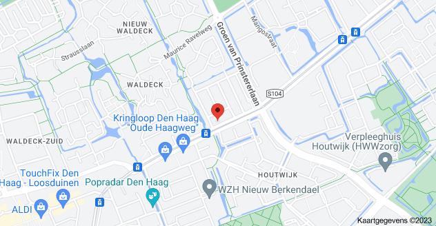 Kaart van Oude Haagweg 279A, 2552 EP Den Haag