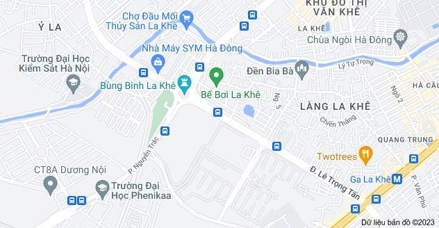 Bản đồ của Lê Trọng Tấn, Hà Đông, Hà Nội