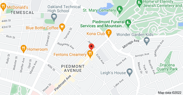 Map of 4279 Piedmont Ave, Oakland, CA 94611