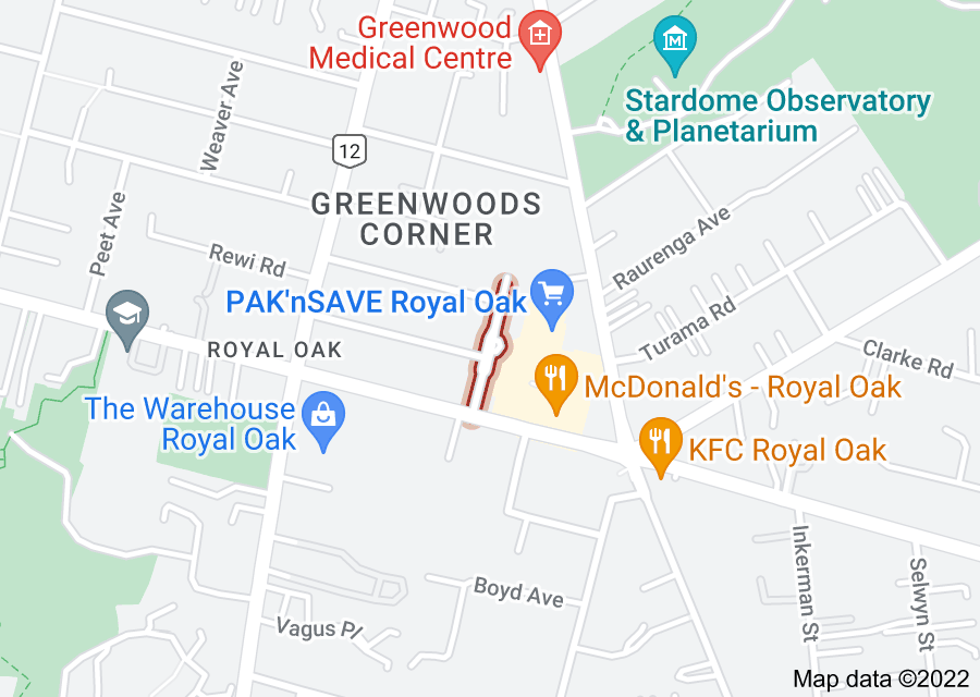 Location of Crown Street