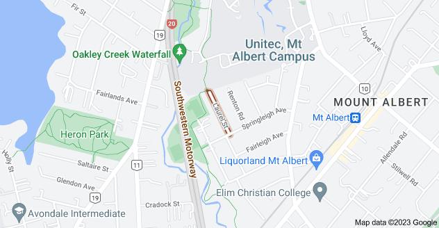 Location of Laurel Street