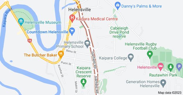Location of Garfield Road