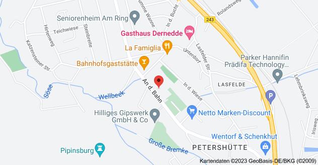 Karte von An der Bahn 26, 37520 Osterode am Harz