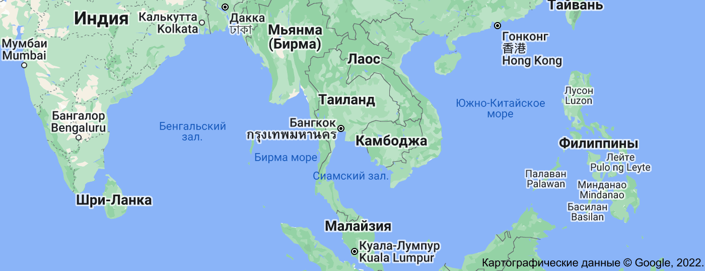 Location of Таиланд