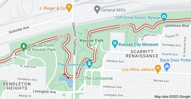 Map of Cliff Dr, Kansas City, MO