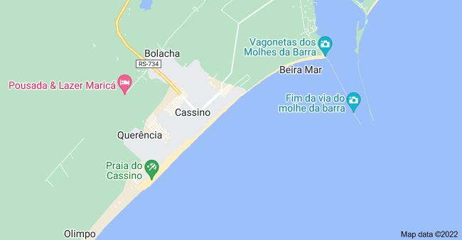 Map of Praia do Cassino, State of Rio Grande do Sul, Brazil