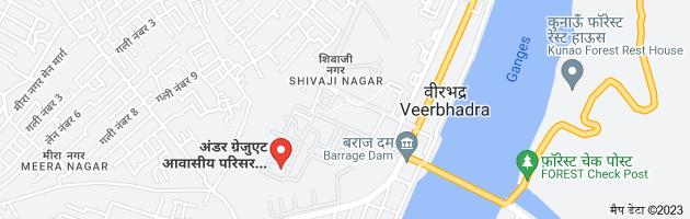 अखिल भारतीय आयुर्विज्ञान संस्थान (एम्स) ऋषिकेश का मैप