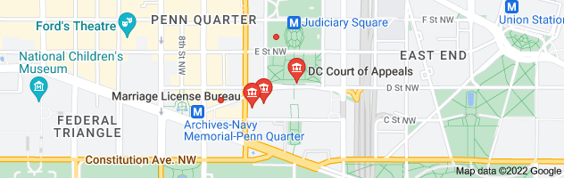 Map of dc court indiana ave nw