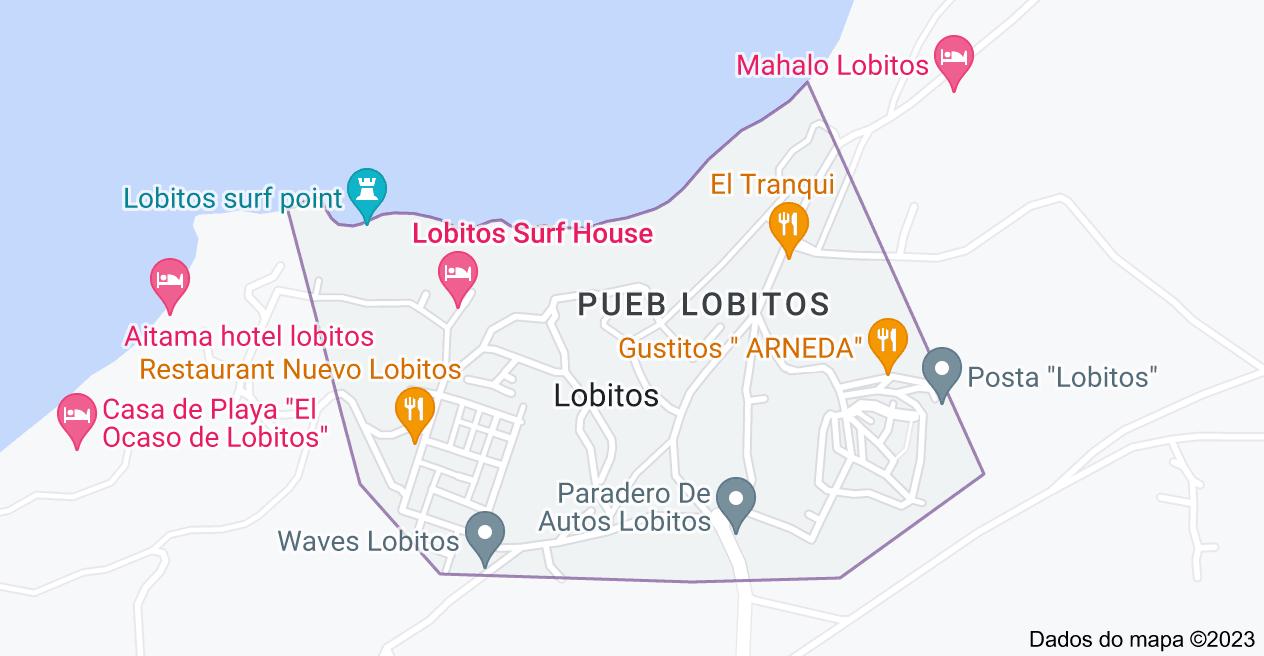 Mapa de Lobitos, Peru
