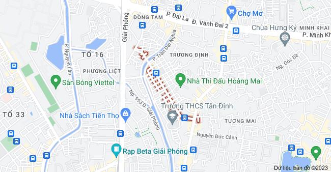 Bản đồ của P. Nguyễn An Ninh, Hà Nội