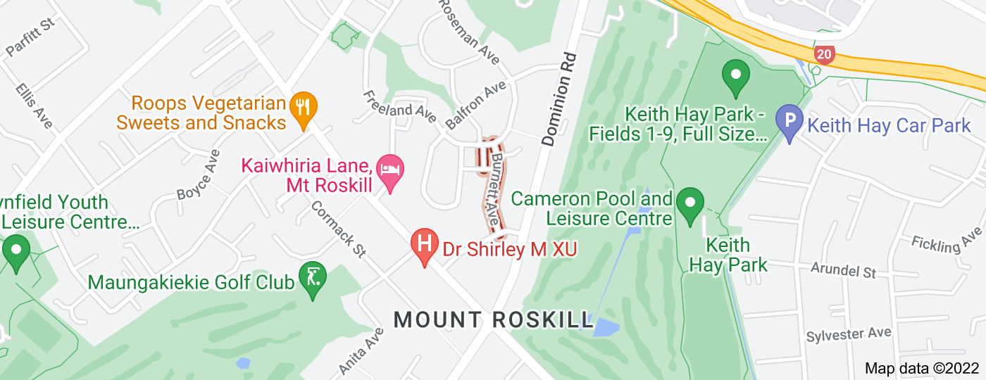 Location of Burnett Avenue