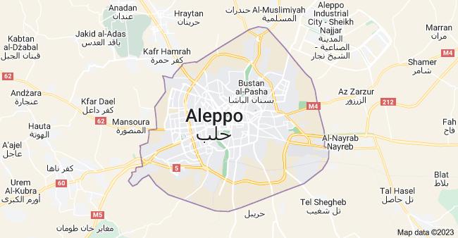 Map of Aleppo, Syria