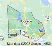 Map of Montgomery County, Texas