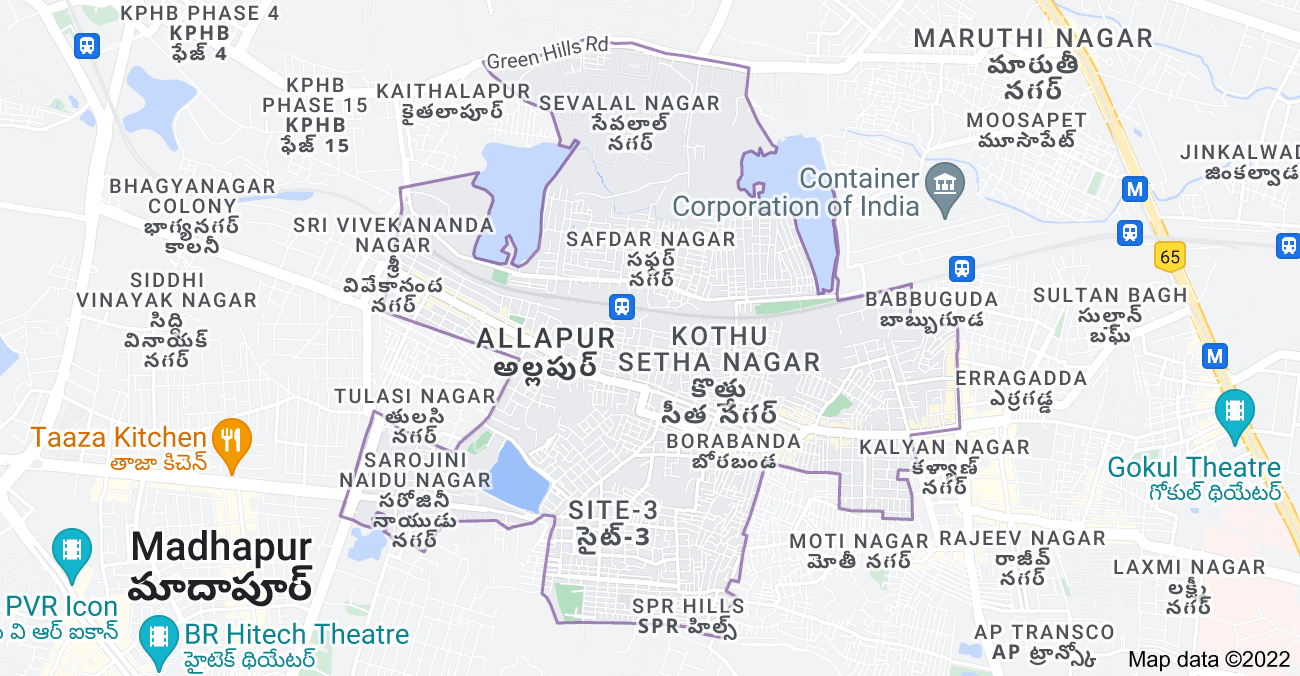 Map of Borabanda, Hyderabad, Telangana, India
