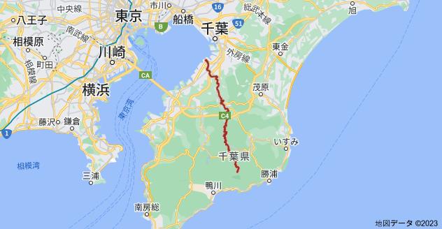 千葉県 養老川の地図