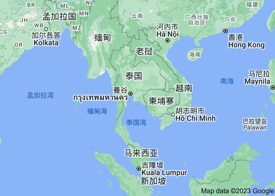 Location of 泰国