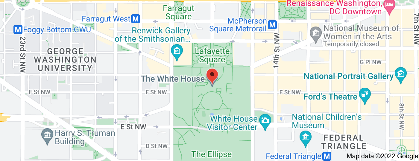 Location of The White House