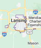 Map of Lansing, Michigan