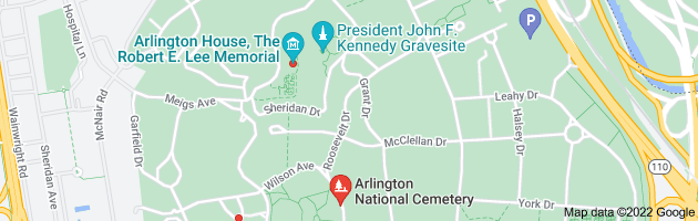 Map of pierre lefnates grave arlington
