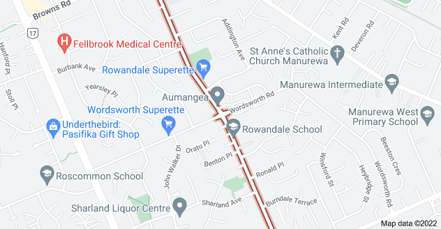 Location of Rowandale Avenue