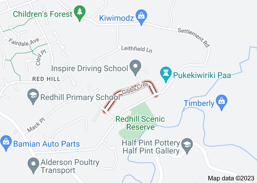 Location of Gibbs Crescent