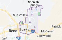 Map of Sparks, Nevada