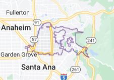 Map of Orange, California