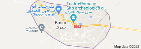 Map of Bosra Syria