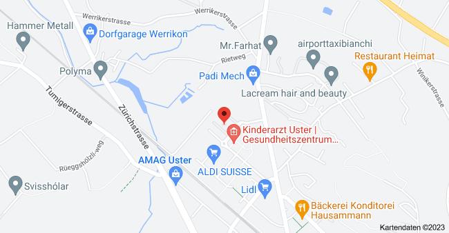 Karte von Uster West 32, 8610 Uster