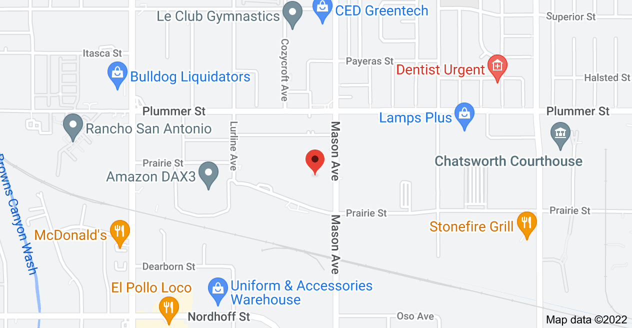 Map of 9301 Mason Ave, Chatsworth, CA 91311