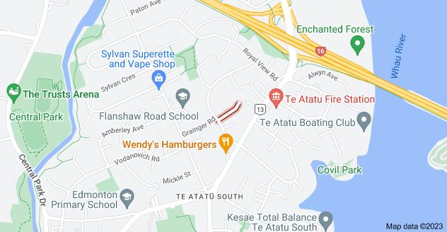 Location of Rowan Terrace