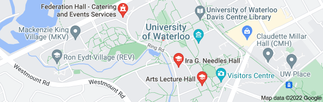 Map of Freedom Hall, 200 University Avenue, West, Waterloo