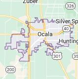 Map of Ocala, Florida