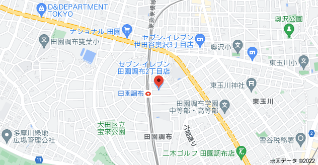 〒145-0071 東京都大田区田園調布2丁目50−5 星野ビルの地図
