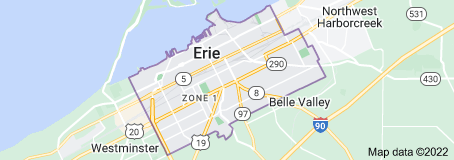 Map of Erie, Pennsylvania