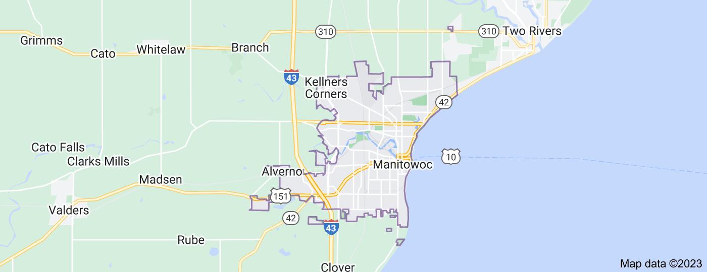 Location of Manitowoc
