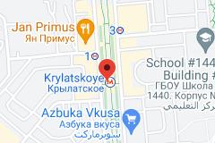 Location of Krylatskoye