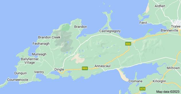 Map of Dingle Peninsula, Co. Kerry, Ireland