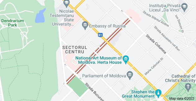 Map of Strada Mitropolit Petru Movilă, Chișinău