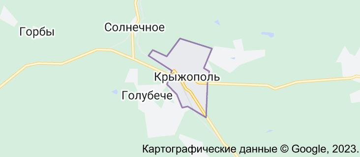 Крыжополь: карта