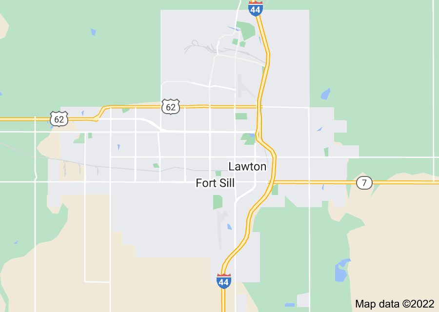 Location of Fort Sill