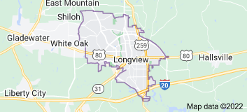 Map of Longview, Texas