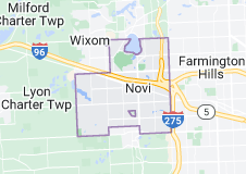 Map of Novi, Michigan