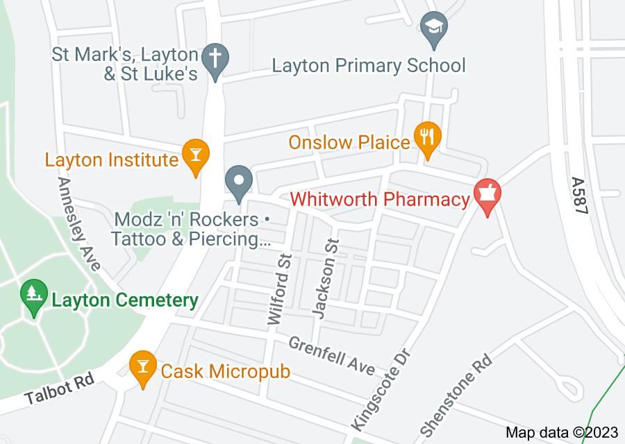 Location of Layton, Blackpool