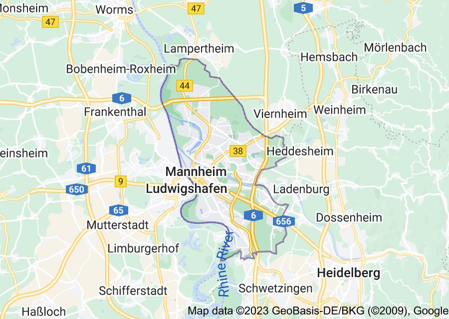 Location of Mannheim