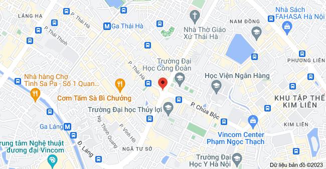 Bản đồ của Thái Hà & Tây Sơn, Trung Liệt, Đống Đa, Hà Nội