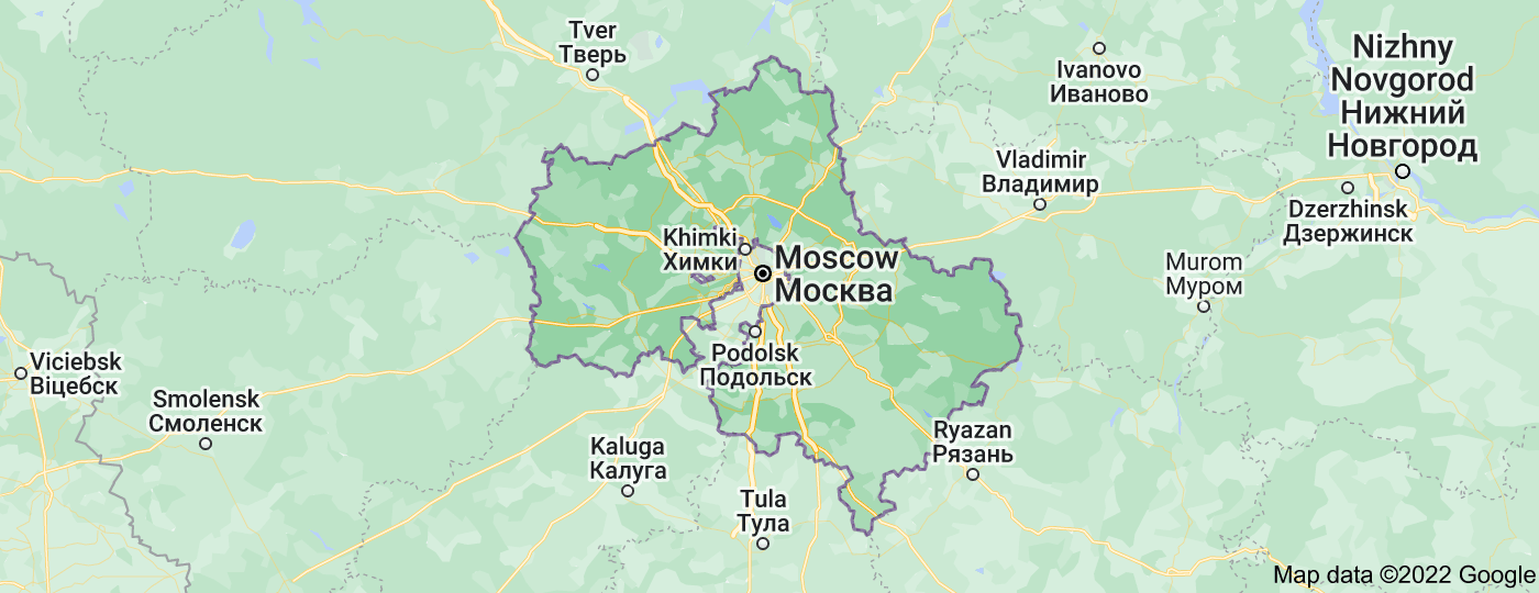 Location of Moscow Oblast